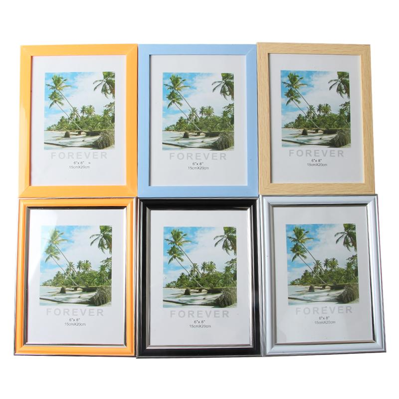 Plastic Photo Frame Acrylic Wood Card Backplane Stand Table Display Photo Quadro Decoration TV Wall 7inch,8inch Frame Best Gift