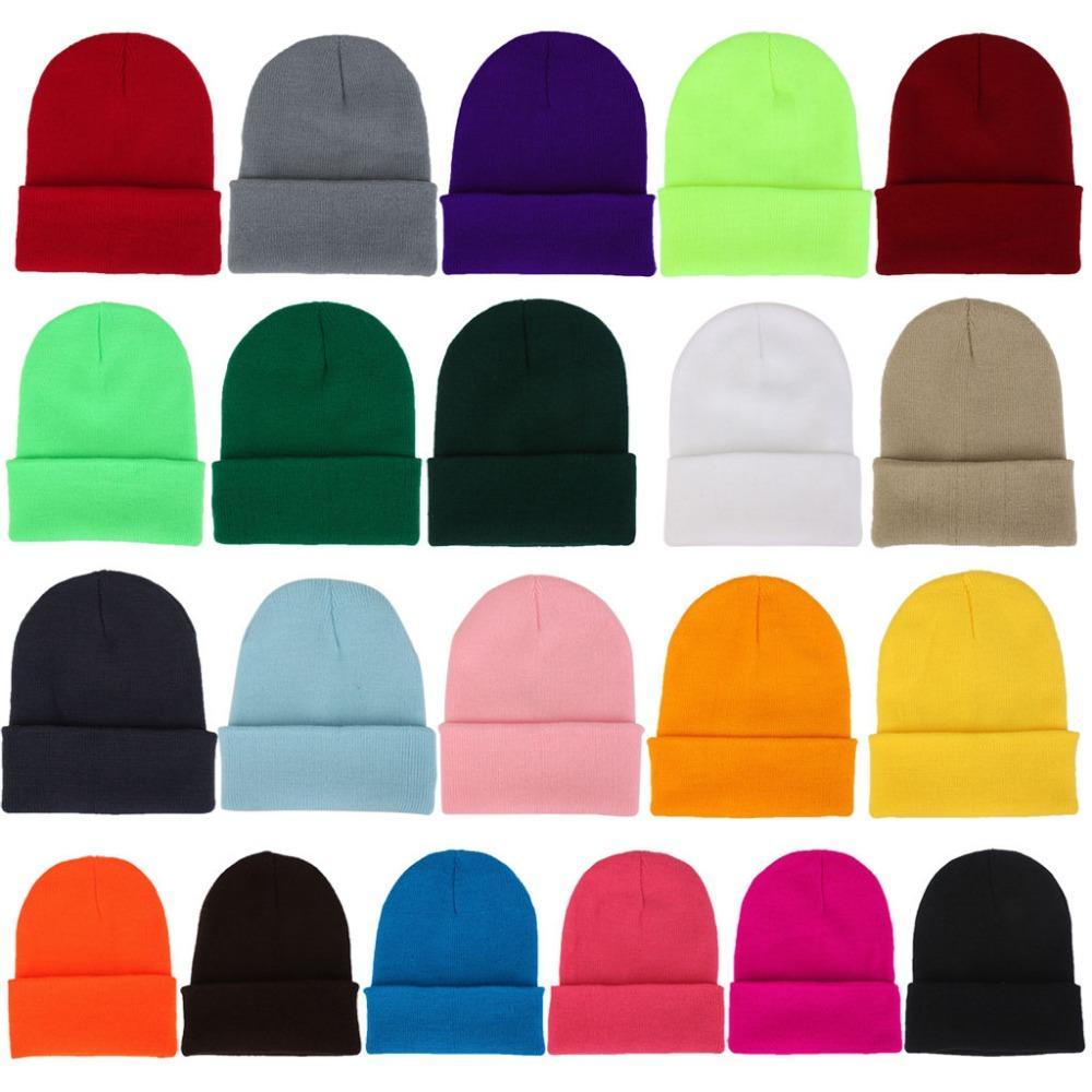 Compre Mujer Hombre Unisex Color Sólido Gorros Gorro Otoño Invierno  Fluorescencia Con Puño Liso Tejido Sombrero Strechy Bonnet Casual Hip Hop A   33.06 Del ... a5f8ab01340