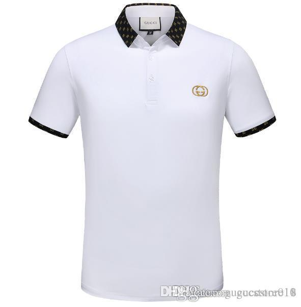 a2d2becfa18 2019 Luxury Embroidery T Shirts For Men Italy Fashion Poloshirt ...