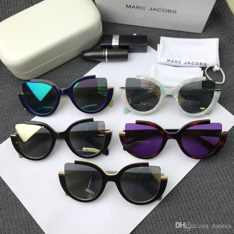 Compre Retro Marco Grueso Gafas De Sol Ojo De Gato Mujeres Señoras Diseñador  De La Marca Espejo Lente Ojo De Gato Gafas De Sol Para Mujer Gafas De Sol A  ... 0a235193af25