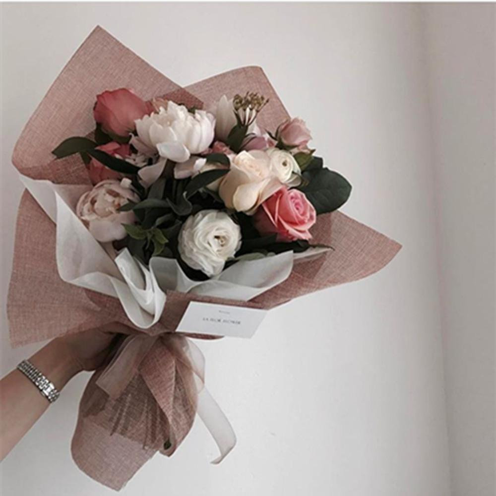 2019 Korean Style Linen Flower Wrapping Paper Flowers Bouquet Gift