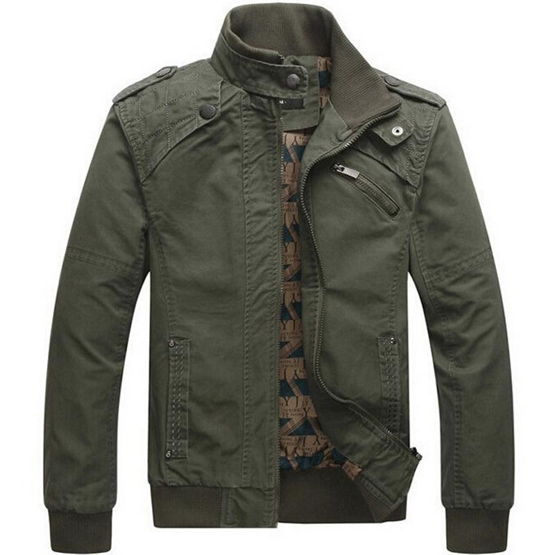 d082a746aa Men Jacket Casual Cotton Washed Coats Army Military Outdoors Stand Collar  Outerwear Jaqueta Masculina Coat Parka Mens Jackets Y18103001 Jean Jacket  Fur ...