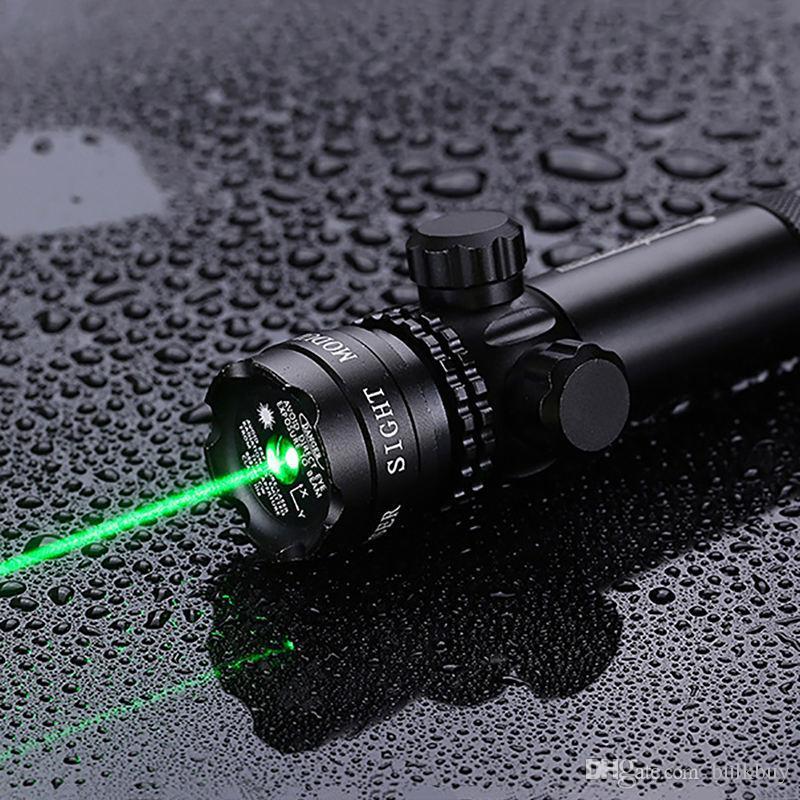 실외 압력 스위치 녹색 빨간색 점 사냥 전술 레이저 마운트 시력 소총 범위 20mm 레일 배럴 마운트 캡