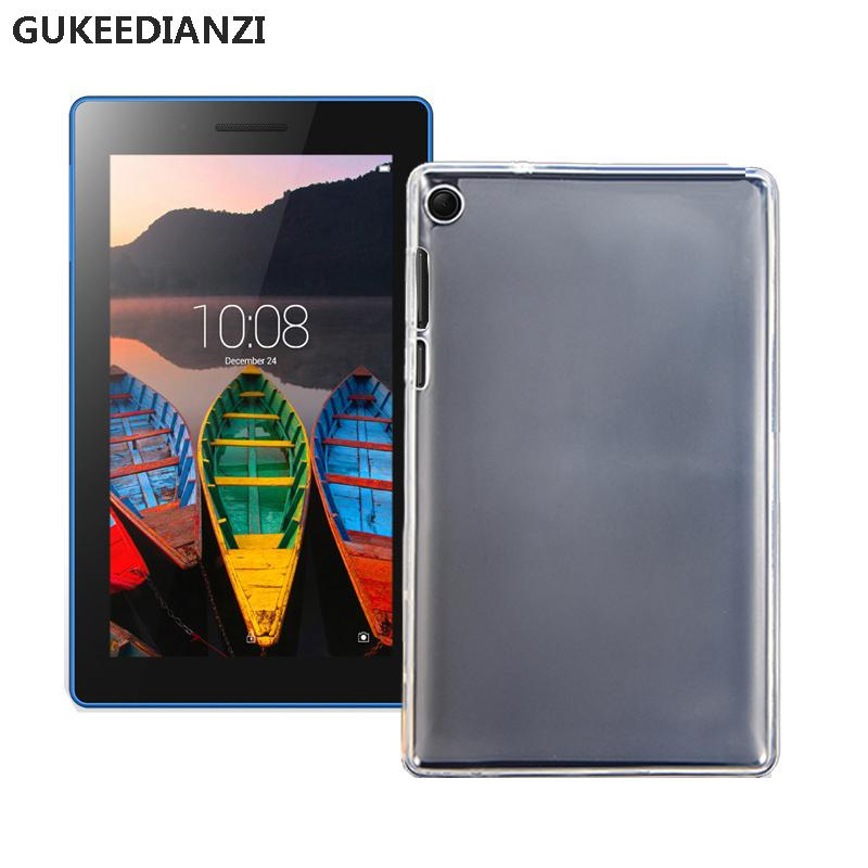 sale retailer ab3d4 60b96 GUKEEDIANZI Case For Lenovo Tab 3 7.0 Inch 710 Essential tab3 710F 710L  Shockproof Ultra thin Protect Tablets Soft TPU Cover
