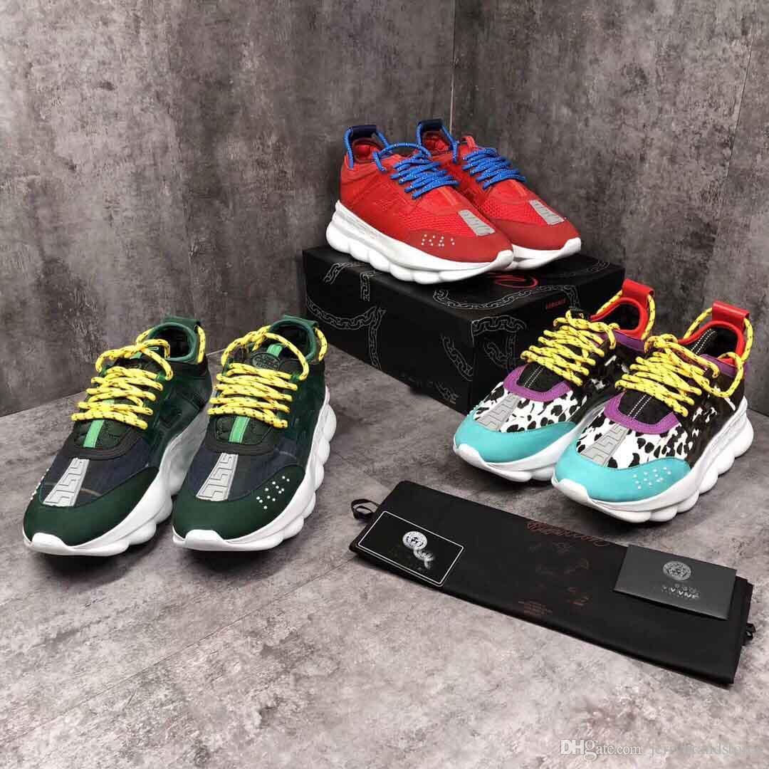 0dddb4cde9eb2 Acheter Chain Reaction Sneaker Braille 'amour' Lettrage Cuir Vachette Sneakers  Pas Cher Luxe Designer Femmes Hommes Amants Formateur Casual Chaussures De  ...