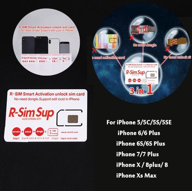 Sim Karte Entsperren Iphone 5.Rsim 12 R Sim Sup Nano Karte Entsperren Für Iphone Xs 8 7 6 6s 4g Lte Ios 11 12