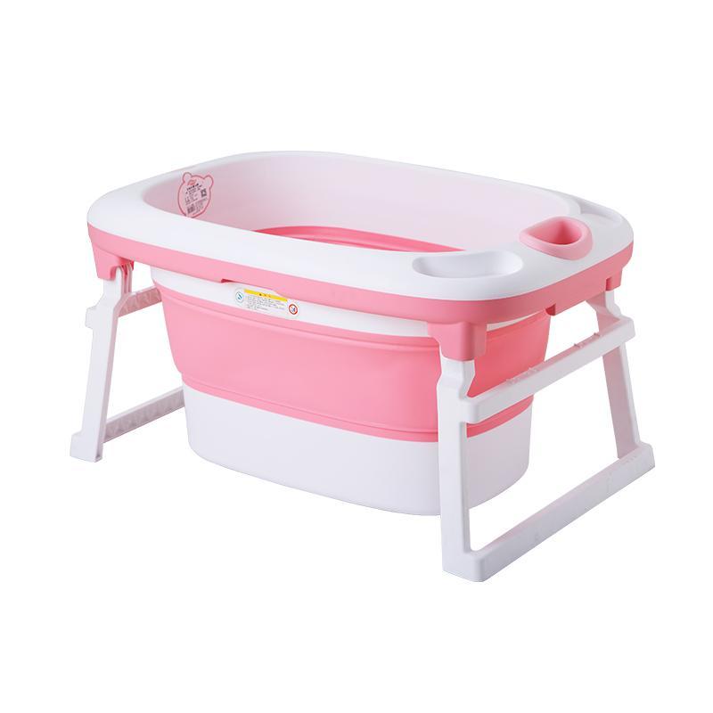 2018 New Folding Baby Bath Tub Large Newborn Child Bath Barrel Baby ...