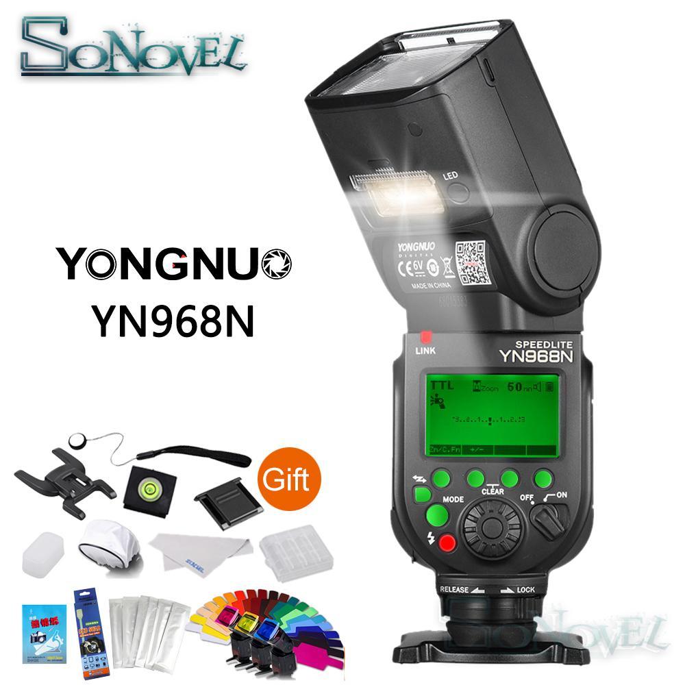 Yongnuo Yn968n Wireless Flash Speedlite Ttl 1 8000 Equipped Led Yn 560iii Speedlight Compatible W Yn622n Yn560 Tx Yn968ex For D4s D5 D500 D850