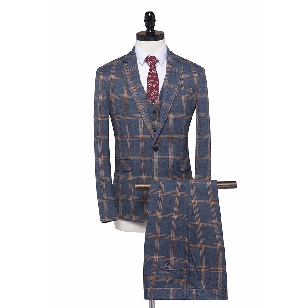 Acquista New FOLOBE Fashion Grigio Tweed Plaid Slim Fit Mens Abiti Formali Abiti  Da Lavoro Sposo Matrimoni Abbigliamento Casual Smoking A  126.64 Dal ... f5d65a2e00c