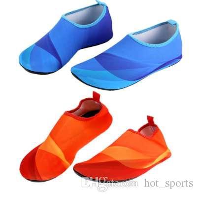 b87c958fd500 2019 Women Men S Skin Water Shoes Aqua Socks Yoga Exercise Pool Beach Dance  Swimming Shoes Slipper On Surf Outdoor Sport From Hot sports