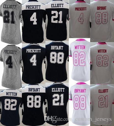 a40078960c6 Women s Dallas  4 Dak Prescott  21 Ezekiel Elliott  88 Dez Bryant ...