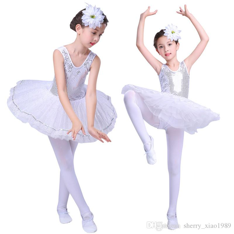 966d19d5ffa1 2019 Professional White Swan Lake Ballet Tutu Costume Girls Children  Ballerina Dress Kids Ballet Sequin Dress Dancewear Dance Dress For Girls  From ...