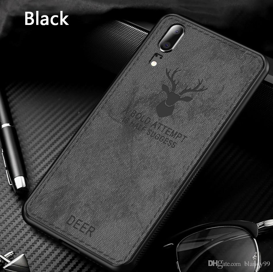 Fabric Cloth Deer Phone back Cover Case For Huawei mate 20 lite pro 20X  honor 8X max P20 pro lite Vintage Patterned Fashion Cute