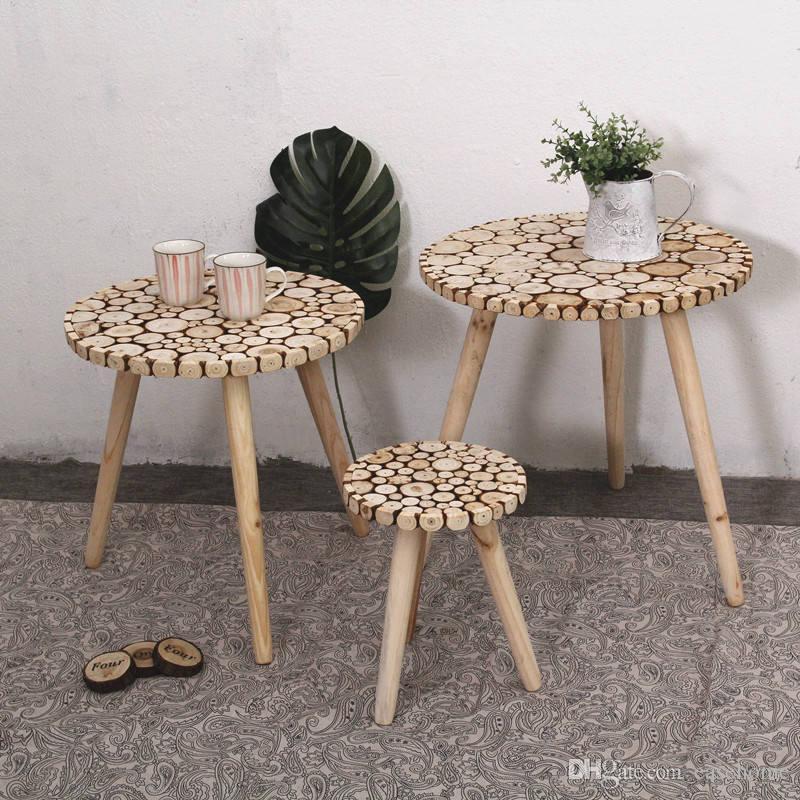 Teapoy Coffee Table Tavolino per soggiorno in 7 dimensioni Camera da letto  Mobili in legno con parole per la decorazione domestica