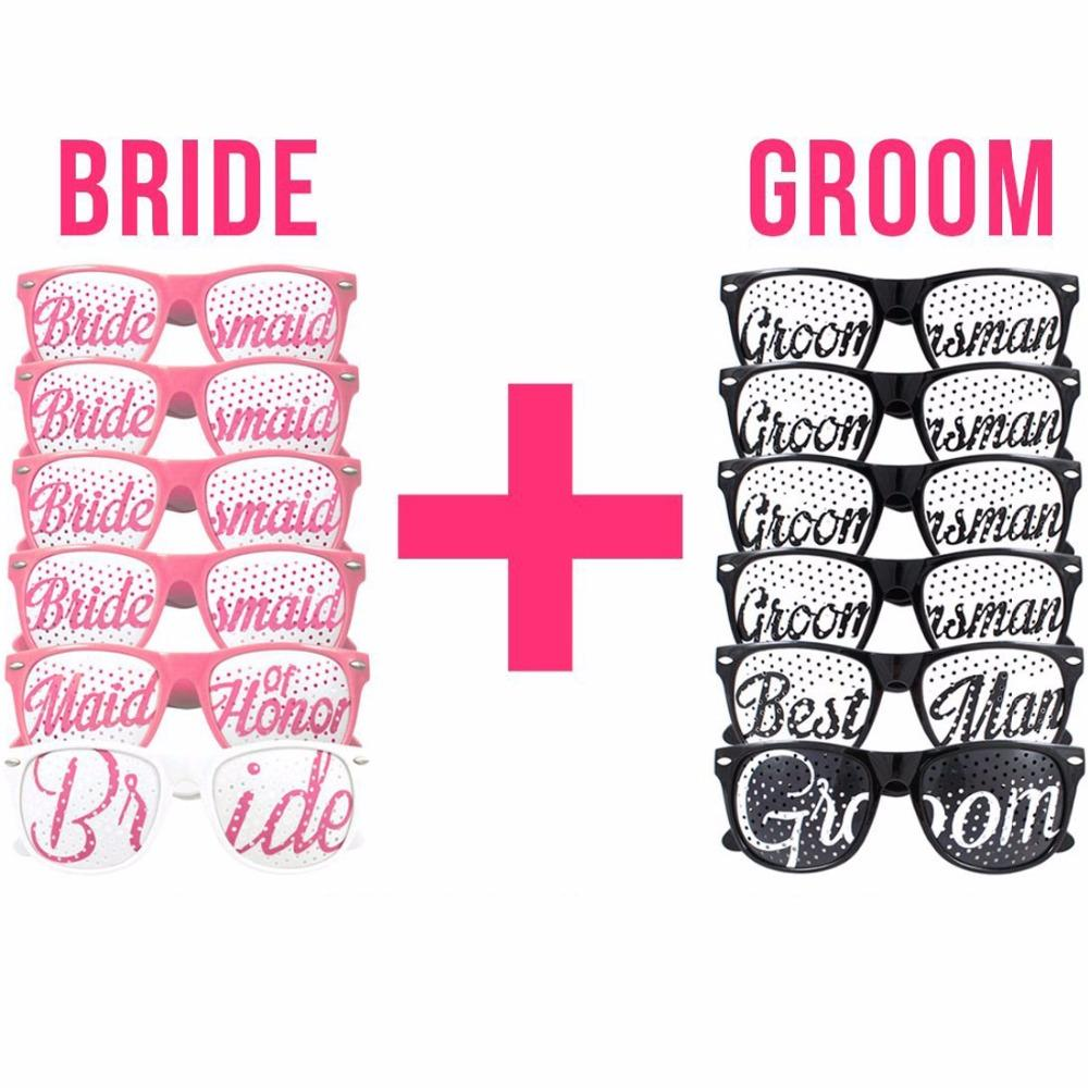 Wedding Sunglasses Mask Groomsman Bridesmaid Team Bride Groom Party ...