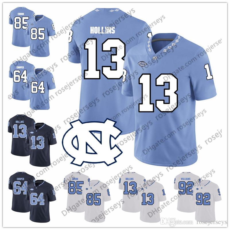 cdfd16ba1 2019 UNC North Carolina Tar Heels #13 Mack Hollins 64 Jeff Saturday 87  Brandon Tate 88 Hakeem Nicks Blue White Men Yout Kid Jersey From  Rosejerseys, ...