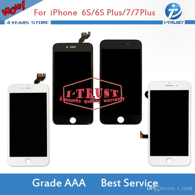 best website d8aa0 b9d3f For iPhone 7 7 Plus 6S 6S Plus LCD Display Touch Digitizer Frame Assembly  Repair with free DHL shipping