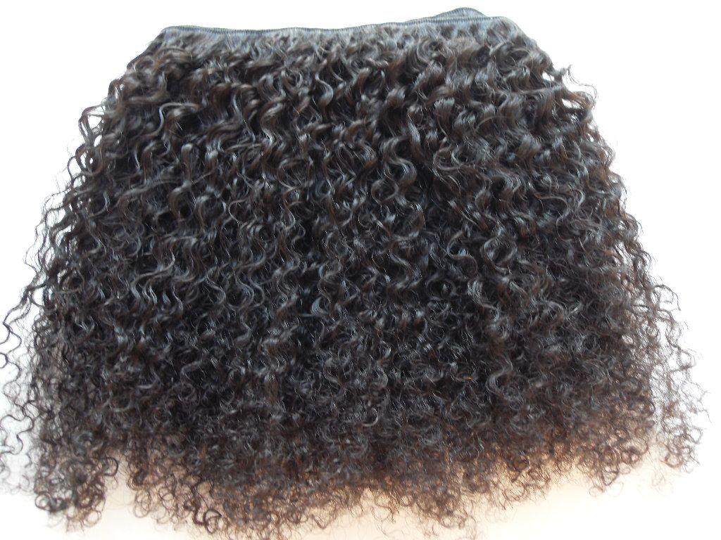 Brezilyalı Insan Bakire Remy Saç Sapıkça Kıvırcık Saç Atkı İnsan Yumuşak Çift Çizilmiş Saç Uzantıları Işlenmemiş Doğal Siyah Renk