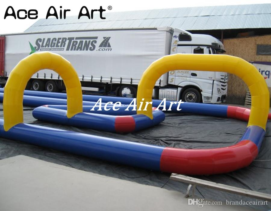 High quality inflatable air track for children car race, inflatable race track for sale