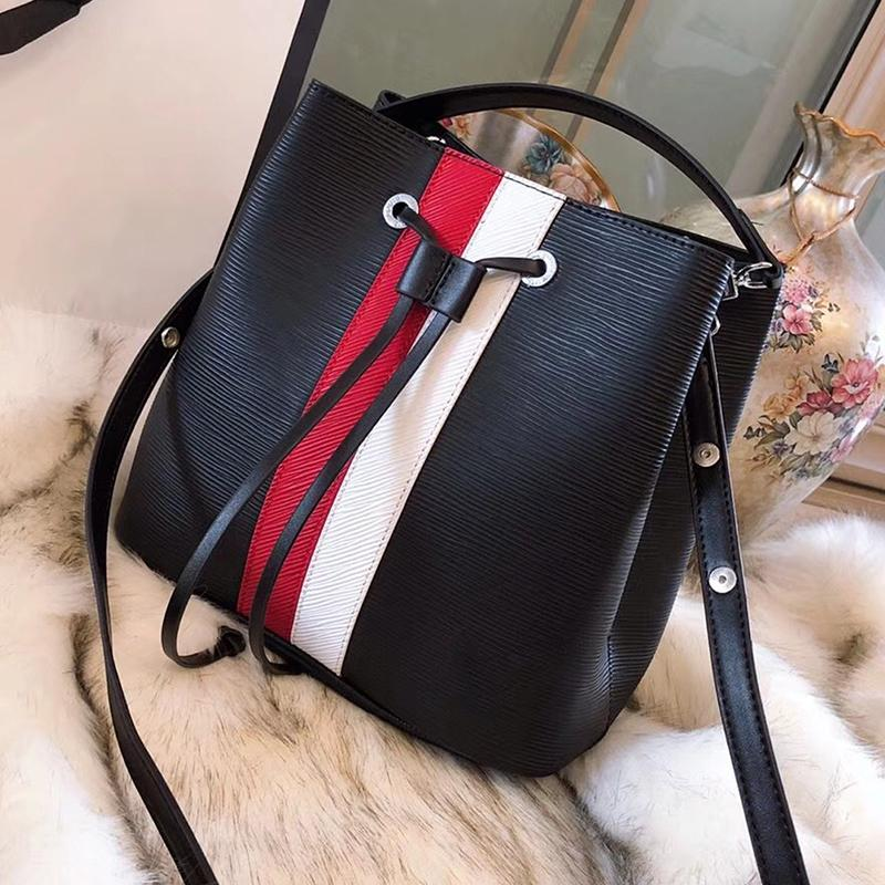 272c7d9e12cb NOE NOE Drawstring Bucket Bag Epi Leather Shoulder Bags Luxury Designer  Handbags Purses Fashion Bags Fringe Crossbody Bag Brand Mochila UK 2019 From  ...