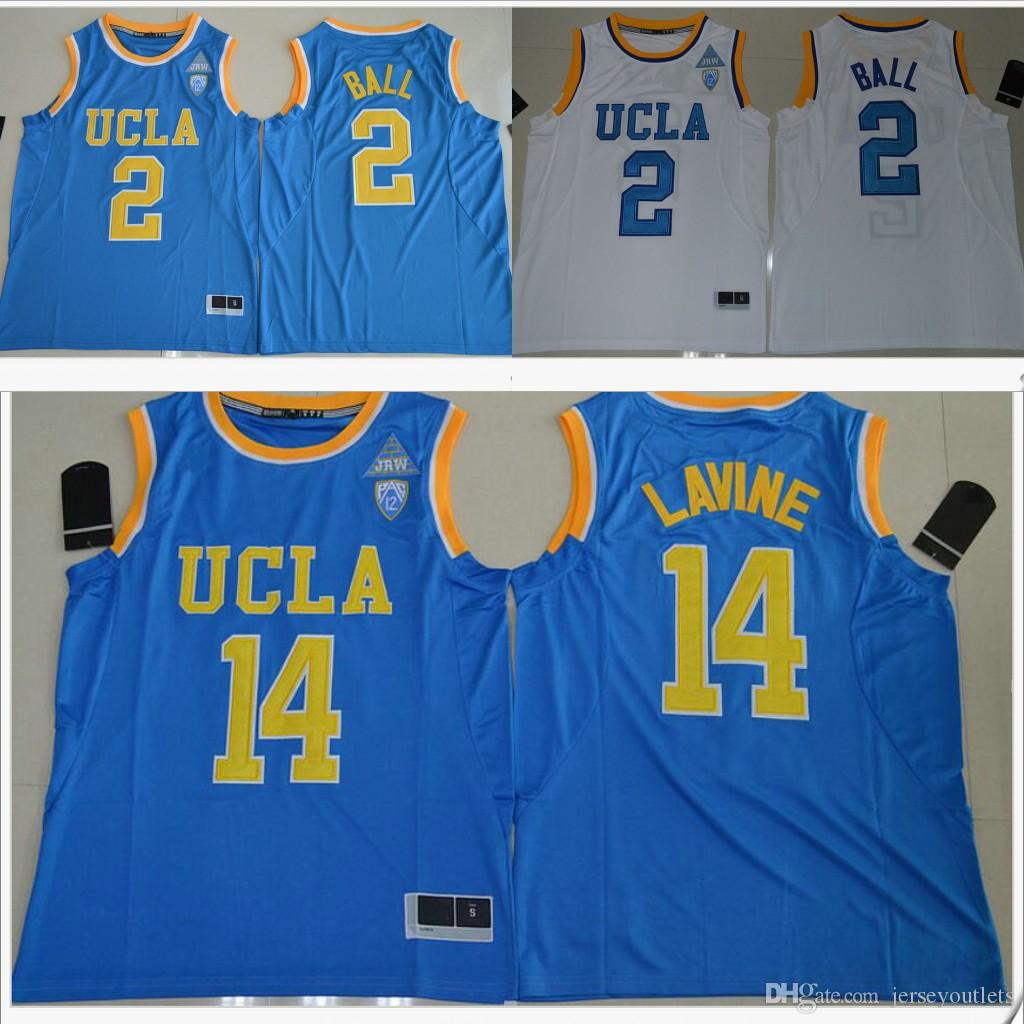 48dacfad3 UCLA Bruins  2 Lonzo Ball 14 Zach LaVine PAC-12 Mens American ...
