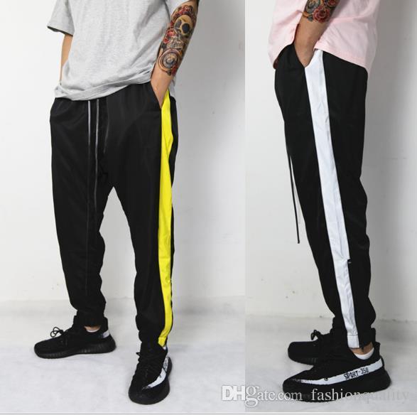 f6ad65e03d180 ... Moda Para Hombre Caliente Raya Lateral Jogging Pantalones Flojos  Pantalones Deportivos Marea Escuela Pantalones De Chándal Para Hombre  Primavera Hip Hop ...