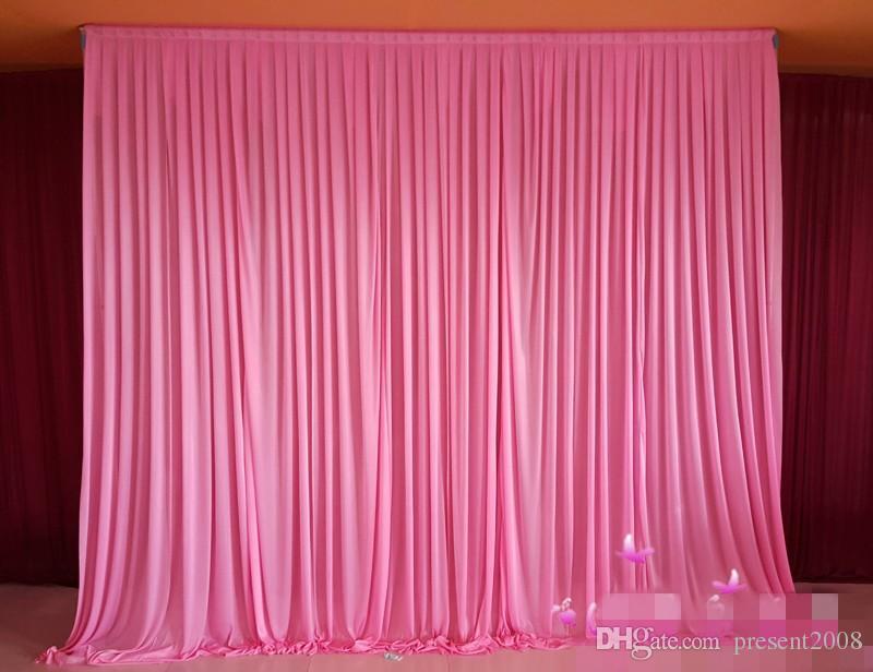 3 M * 6 M zemin perdeleri swag ile düğün perdeler Lüks düğün sahne backdrop Sahne düğün Süslemeleri