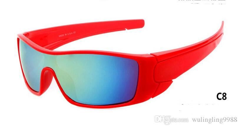 2018 العلامة التجارية الجديدة النظارات الشمسية الانذار تنظيفات نظارات الدراجات الرياضية مبهرة النظارات الرجال طلاء العاكس الشمس الزجاج A + 11 الألوان