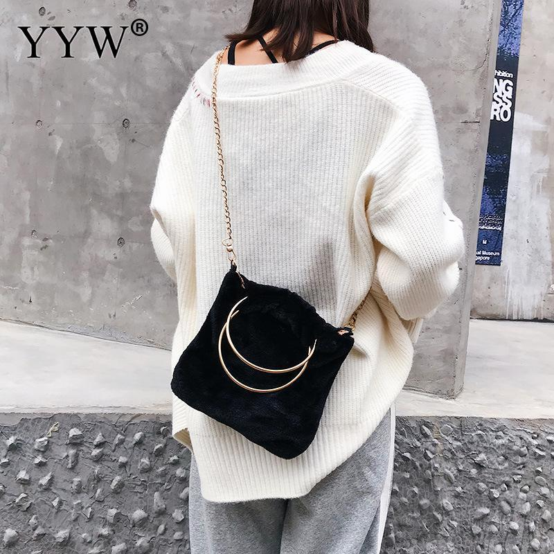 543a16717c52 2018 Winter Soft Plush Faux Fur Bag Fashion Women Hairy Tote Bag Warm Plush  Handbag Ladies Crossbody Shoulder Messenger Hot Purses Wholesale Baggit  Handbags ...