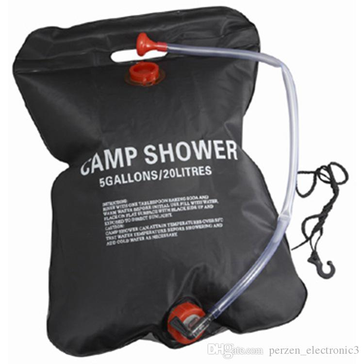 Shower Bag Foldable Solar Energy Heated Camp PVC Water Bag Outdoor Camping Travel Hiking Climbing BBQ Picnic Water Storage 20L