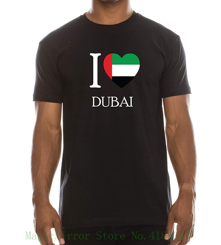 c989ad7d Love Dubai Printed Short Sleeve T-shirt Printed T-shirt Men's Short Sleeve  O-neck T-shirts Summer Stree Twear