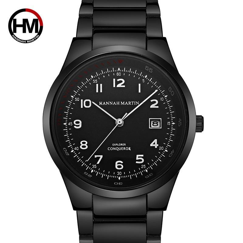 f19eaba34918 Compre Nuevo Reloj Hombre Negro Escala Digital Relojes De Cuarzo Hombres  Reloj De Negocios Marca De Acero Impermeable Reloj Calendario Estudiantil  Tabla ...