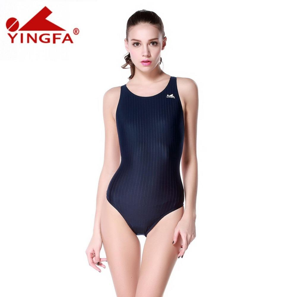 ce84dd5d14d0f Yingfa Classical Model One Piece Training Competition Waterproof Chlorine  Resistant Girl Swimwear Plus Size Bathing Swimsuits Canada 2018 From Ario