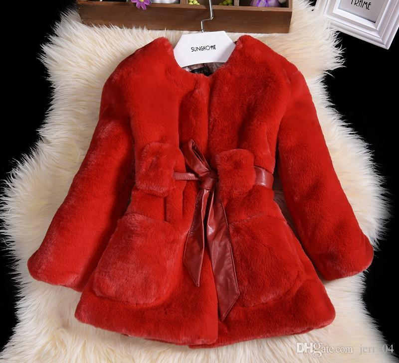 7b3e73cf0 Luxury Faux Fur Coats Fashion Winter Jacket For Girls Baby Clothes ...