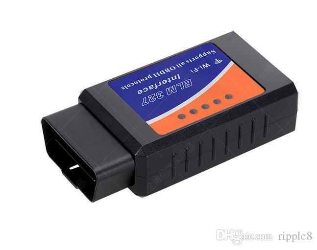 WIFI OBD2 ELM 327 OBD II Herramienta de exploración WIFI Elm 327 inalámbrico OBD2 Auto Cable de diagnóstico