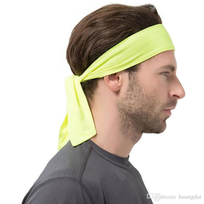 Women Men Striped Solid Tie Back Sport Headband Non Slip Stretch Sweatbands  Moisture Wicking Workout Yoga Running Headbands Baby Bows Headbands Bows  And ... 3d936a65969