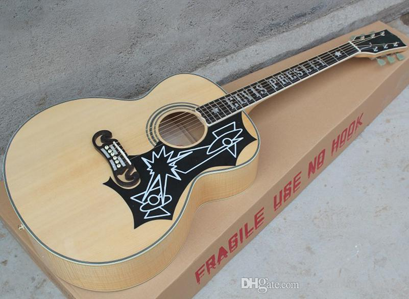 Wholesale 43 Natural Wood Color Sj Elvis Acoustic Guitar With