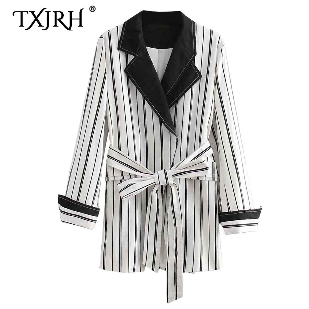 Pajarita Negro Blanco Retro Vertical Txjrh Compre Cintura Atado Raya qB4wHx6