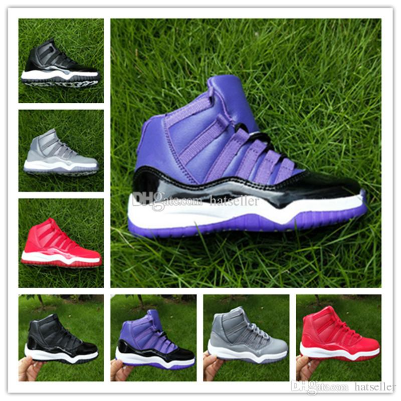 28a1976c071805 Hot Sale Kids 11 Basketball Shoes 11 Black Red Grey Blue White XI ...