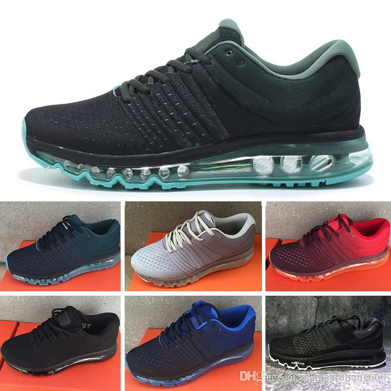 sneakers for cheap a0cb7 41e5d Acheter Nike Air Max 2017 2018 Airmax 2018 Top Qualité Maille Tricot  Sportswear Hommes Femmes Maxes 2017 Casual Chaussures Pas Cher Sport  Trainer Sneakers ...