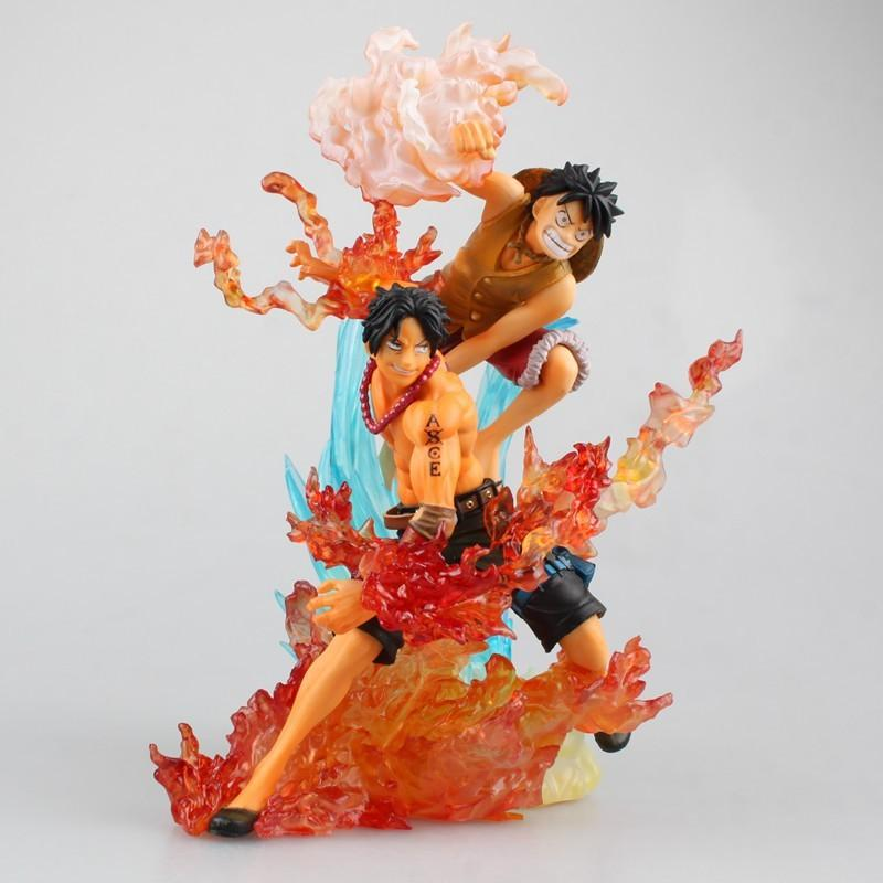 2019 Action Figure One Piece Zero Luffy Ace Cartoon Doll Pvc 18cm