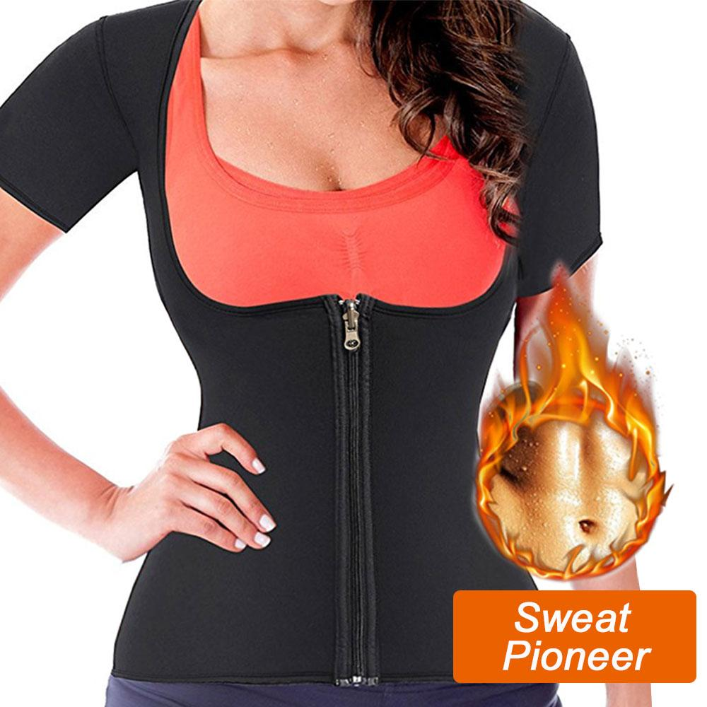 6aa2f946f00ba Palicy Hot Neoprene Body Shaper Girdles for Women Slimming Waist Trainer  Sauna Suit Tank Top Shapewear for Weight Loss Zipper Tops Cheap Tops Palicy  Hot ...
