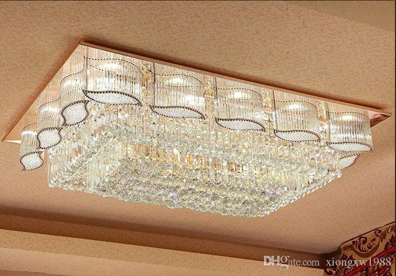 Plafoniere Per Hotel : Acquista lussuoso hotel soggiorno villa rettangolo luminosità