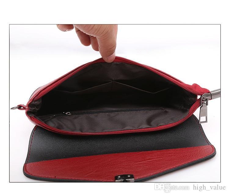 Borsa a tracolla della borsa del cereale rosso di promozione di modo superiore Borse della spalla del raccoglitore dell'unità di elaborazione delle donne del messaggero delle borse del raccoglitore della borsa del cereale delle signore