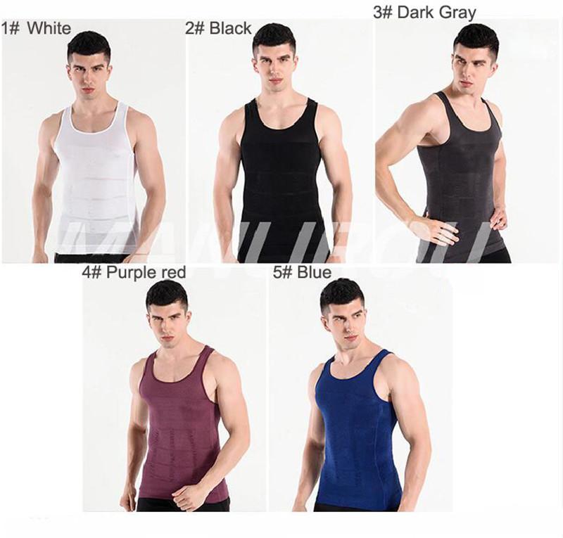 1a588ff9a4 2018 Men Body Shaper Shirt Slim Lift Slimming Vest Tummy Body Shaper Belly  Fatty Body Girdle Invisible Design Underwear Vest for Men New