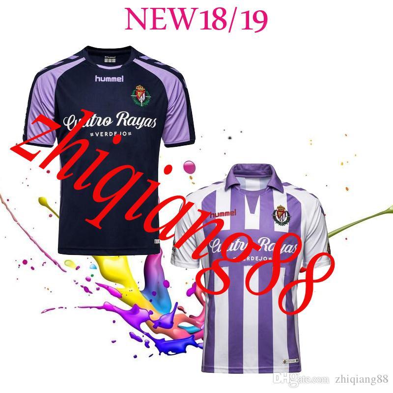 2018 2019 España LIGA Real Valladolid Camiseta Local Y Visitante 18 19 Real  Valladolid Camisetas Jaime Mata Michel Guitan Hervias Por Zhiqiang88 f8f474644c420