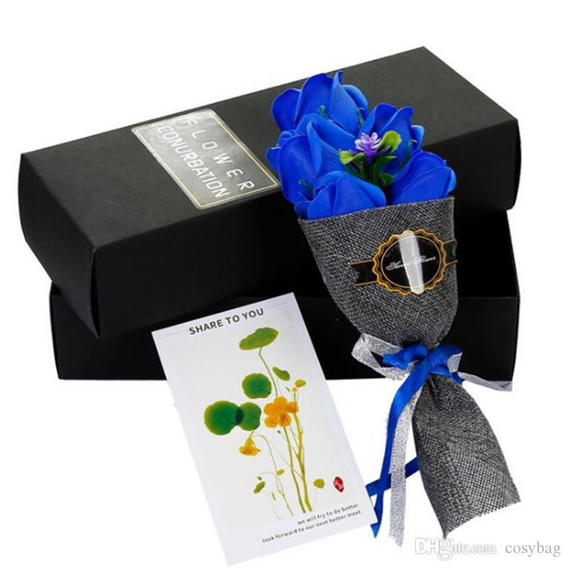 a80e8000ed69d 2019 Valentines Day Unique Scented Bouquet Rose Flower Gift Box ...