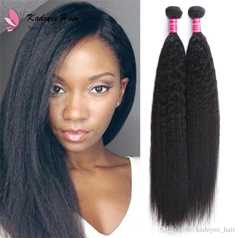 Hair Supplier Light Yaki Straight Virgin Hair Weave Bundles Weaving  Extension Remy Weaves Natural Black Color For Black Women Uk Wefts Of Human  Hair Wefted ... c62e514cc