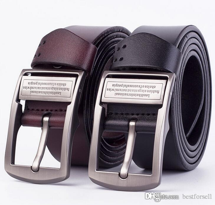 Fashion Belts For Men Brand Designer Buckle Belt Big Male Leather