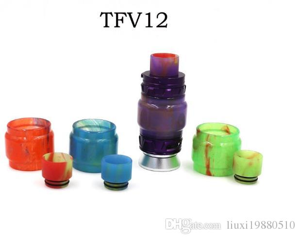 olorful Resin Glass Replacement Epoxy Expansion Tube Drip Tips Tubes For TFV8 Baby X-Baby TFV12 Prince Tank Atomizer In Stock